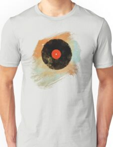 Vinyl Record Retro T-Shirt - Vinyl Records Modern Grunge Design Unisex T-Shirt