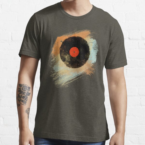 Vinyl Record Retro T-Shirt - Vinyl Records Modernes Grunge Design Essential T-Shirt