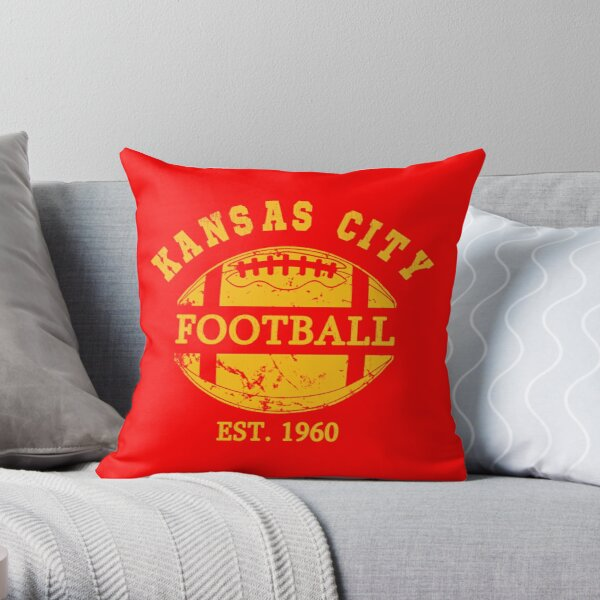 Kansas City KC Missouri football Retro Throw Pillow