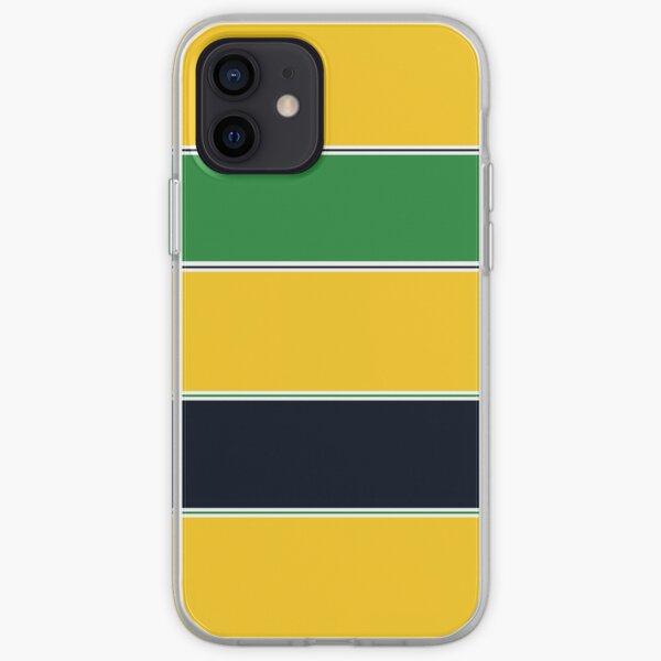 Ayrton Senna Helmet Stripes iPhone Soft Case