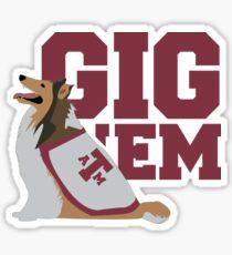 Gig 'Em Aggies Sticker