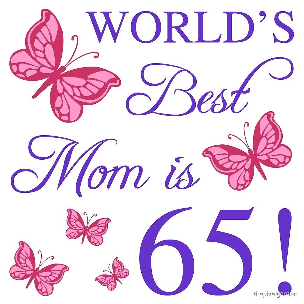 65th Birthday For Mom by thepixelgarden – Mum 65th Birthday Card