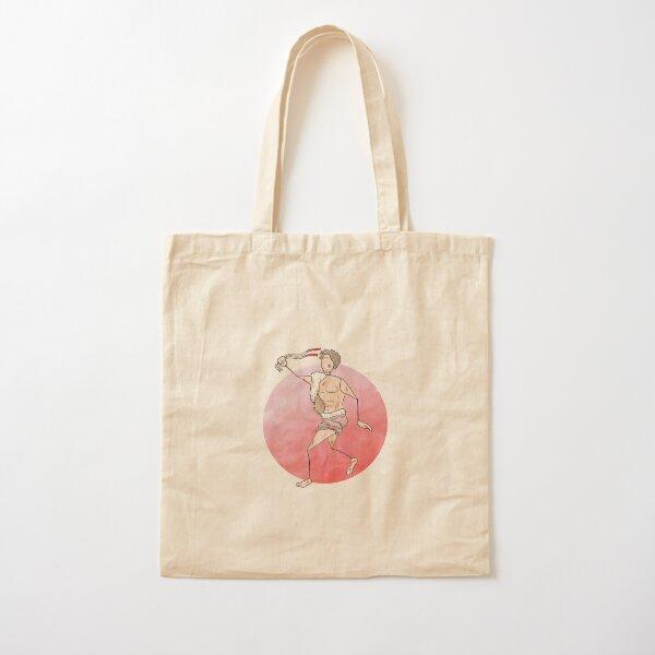 Lupercalia celebrant brandishing goatskin strips Cotton Tote Bag