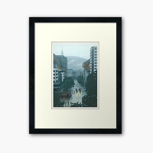 36 views of Black Mountain: the Canberra La Niña sky cetacea migration (prints) Framed Art Print