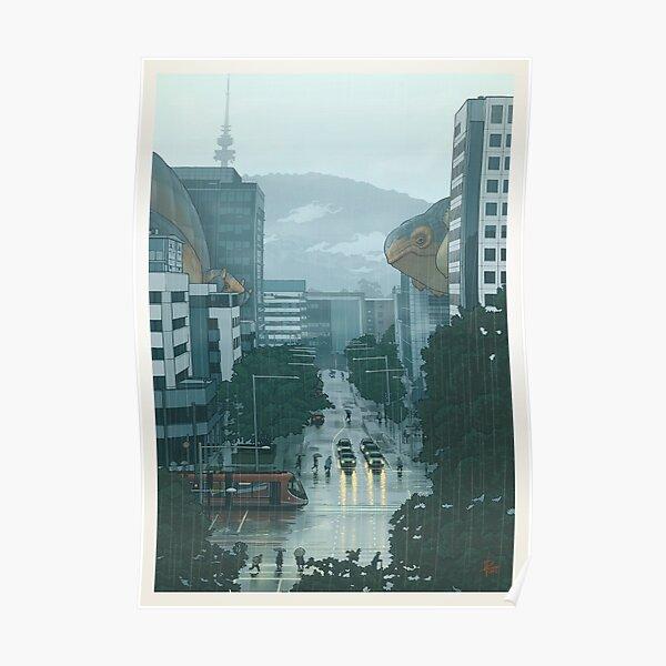 36 views of Black Mountain: the Canberra La Niña sky cetacea migration (prints) Poster