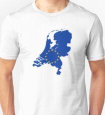 European Union Flag Map of Netherlands Unisex T-Shirt