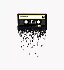 The death of the cassette tape. Photographic Print