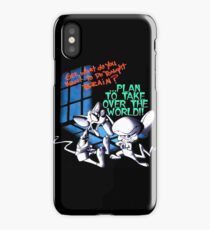 Pinky and Brain Take over The world iPhone Case/Skin