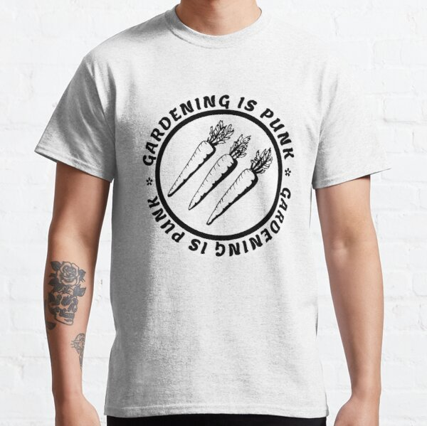 gardening is punk | antifascist 3 arrows | circle text Classic T-Shirt