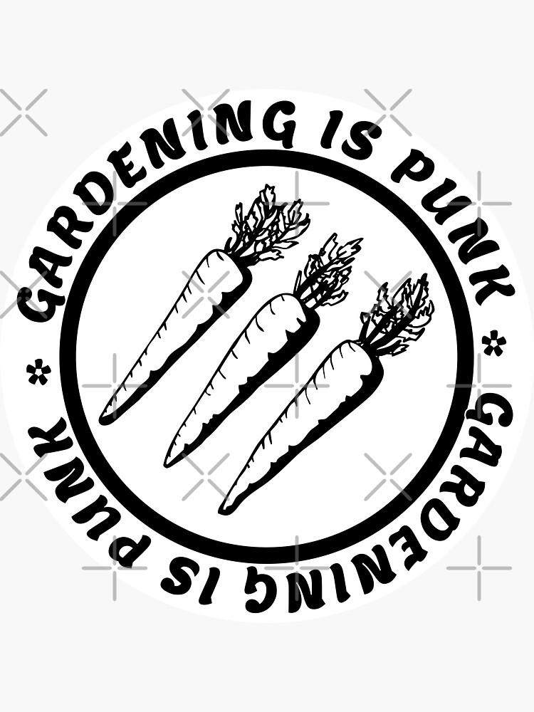 gardening is punk | antifascist 3 arrows | circle text by craftordiy
