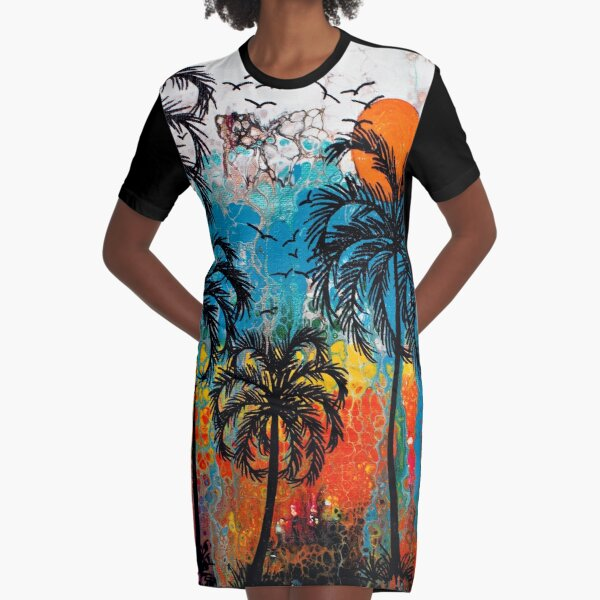 My Caribbean Aesthetic Series 02 Graphic T-Shirt Dress