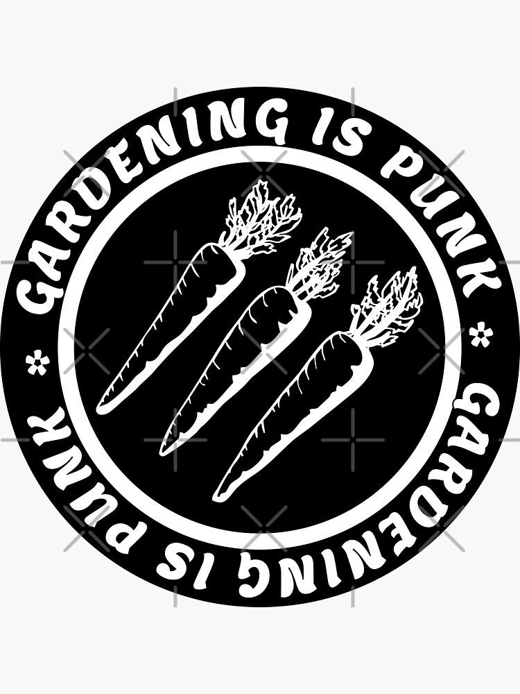 gardening is punk   antifascist 3 arrows   circle text by craftordiy