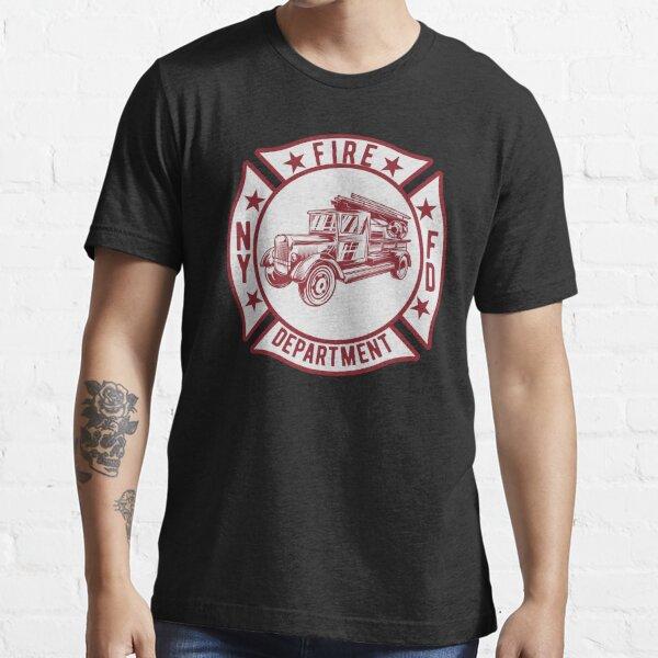 New York Fire Department Fire Truck Vintage Patch Essential T-Shirt