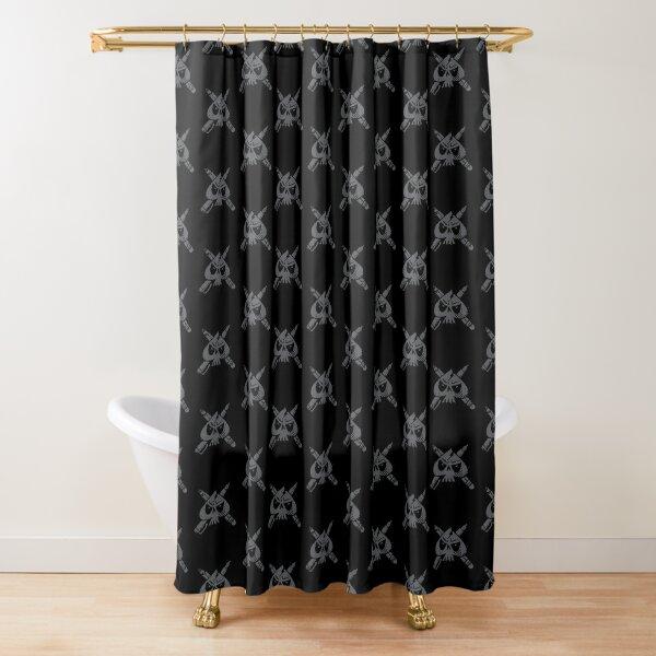 Junky723 Ace Skull Logo Vintage Shower Curtain