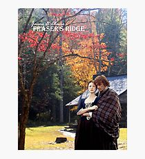 Outlander/Jamie & Claire on Fraser's Ridge. Photographic Print