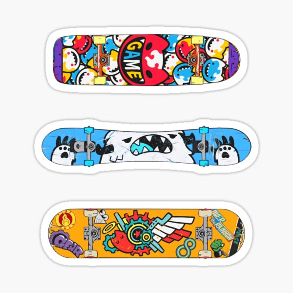 sk8 the infinity anime ! Cute Skating Boards sticker pack Sticker