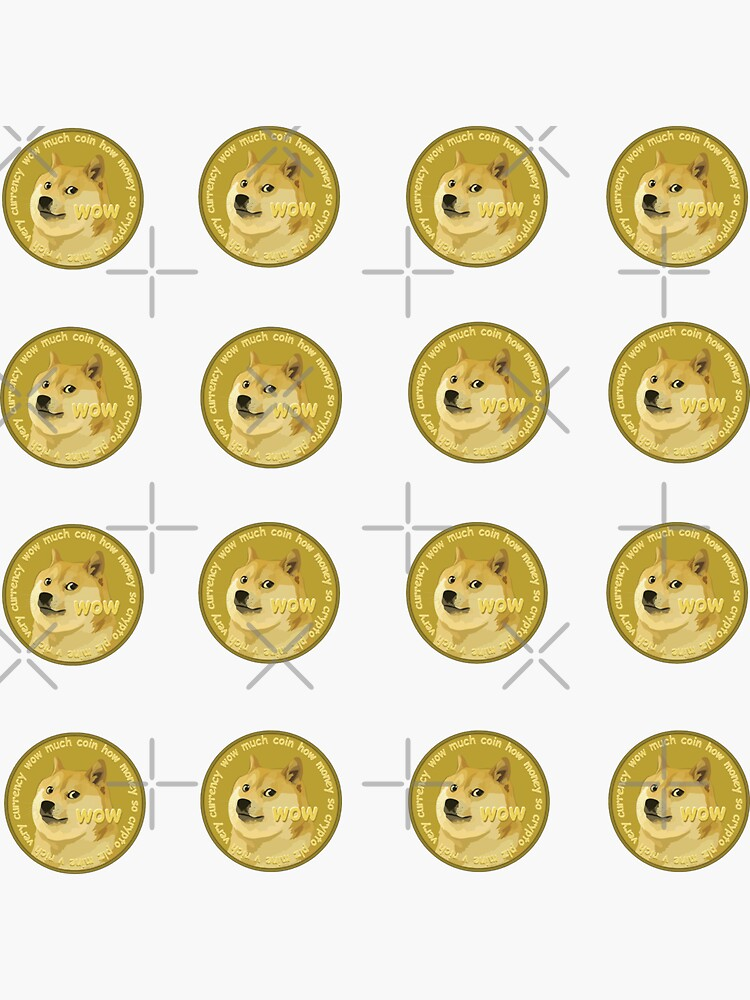 Dogecoin To The Moon Sticker Pack - Medium Size by yumiso