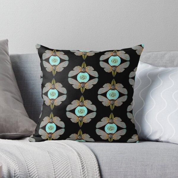 Wireless Cicada Throw Pillow