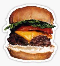 Cheeseburger Pattern Sticker