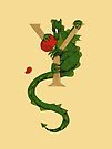 """Oscar and the Roses""""Y"""" (Illuminated Alphabet) by Donna Huntriss"""