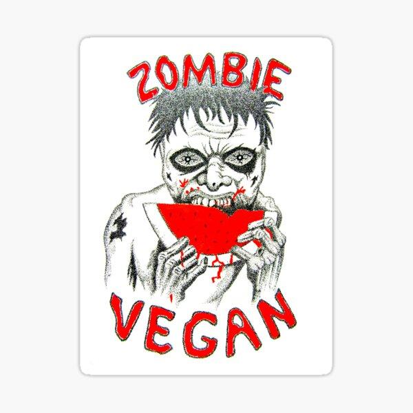 Zombie Vegan Sticker