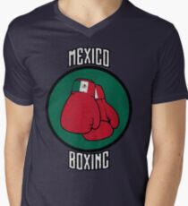 Mexico Boxing Men's V-Neck T-Shirt
