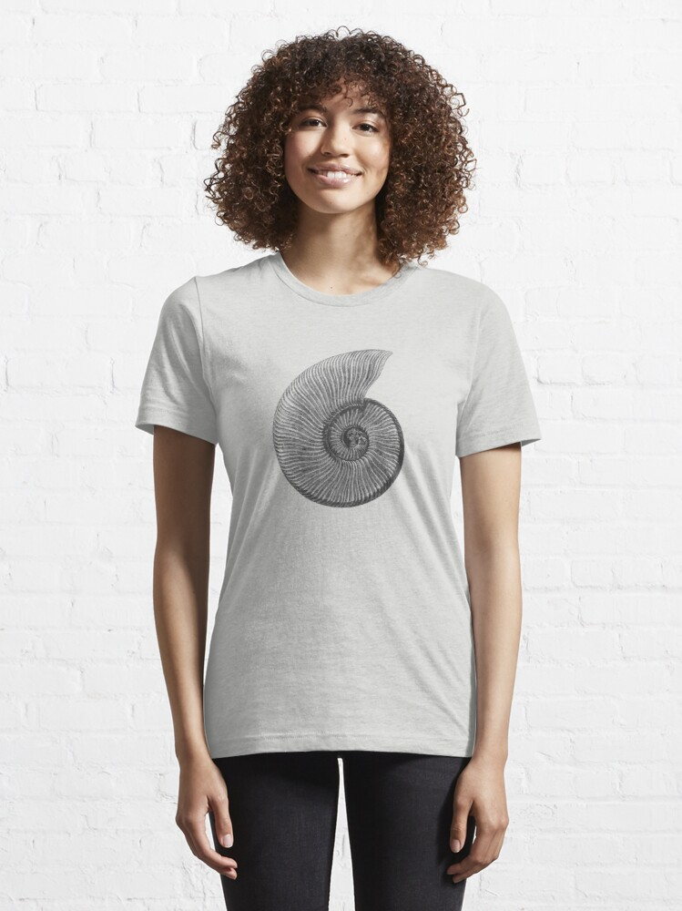 Alternate view of Ammonite Fossil Essential T-Shirt