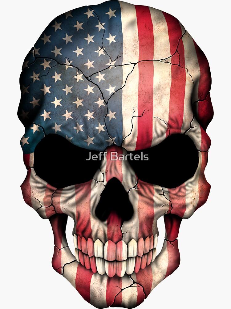 Amerikanische Flagge-Schädel von JeffBartels