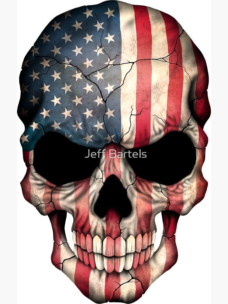 Cráneo de la bandera americana de JeffBartels