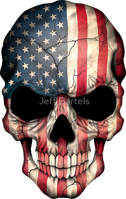 Quot American Flag Skull Quot Stickers By Jeff Bartels Redbubble