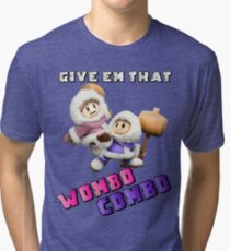 Wombo Combo Ice Climber Smash Bros Tri-blend T-Shirt