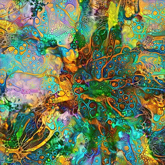 Deepdream floral fractalize abstraction