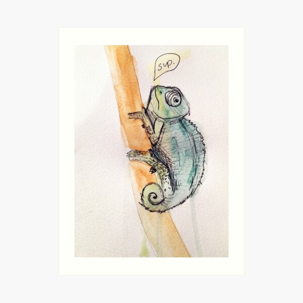 "Sloth /""Chilling Out!/"" Watercolour Painting,Original Art Prints Art Card"