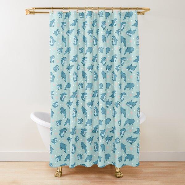 Brucie Blahaj shark under the sea pattern (Comic edition) Shower Curtain