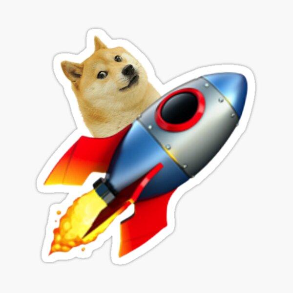 Rocket Dogecoin Sticker