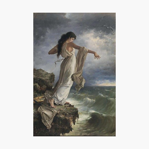 Death of Sappho by Miguel Carbonell Selva Photographic Print