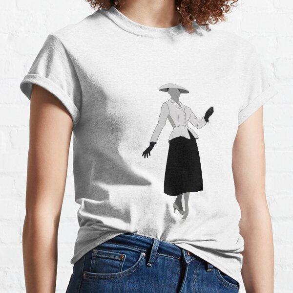 Dior New Look haute couture des années 50 T-shirt classique