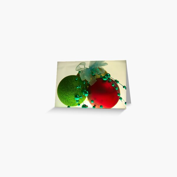 Red & Green & Gold 2 Greeting Card