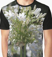White Bright Agapanthus Graphic T-Shirt