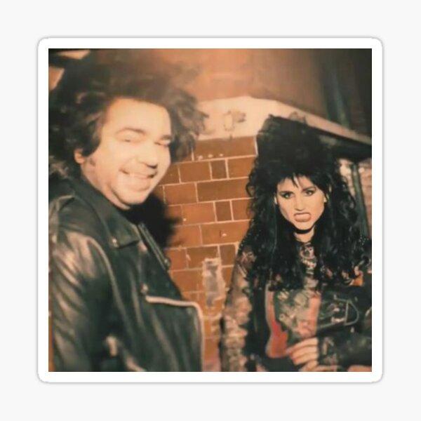 Laszlo & Nadja in the 80s Sticker