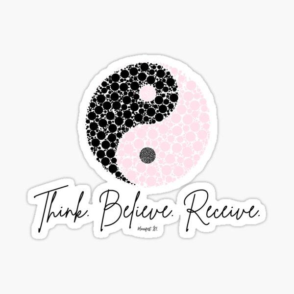 Manifest It! Pink Yin Yang Sticker
