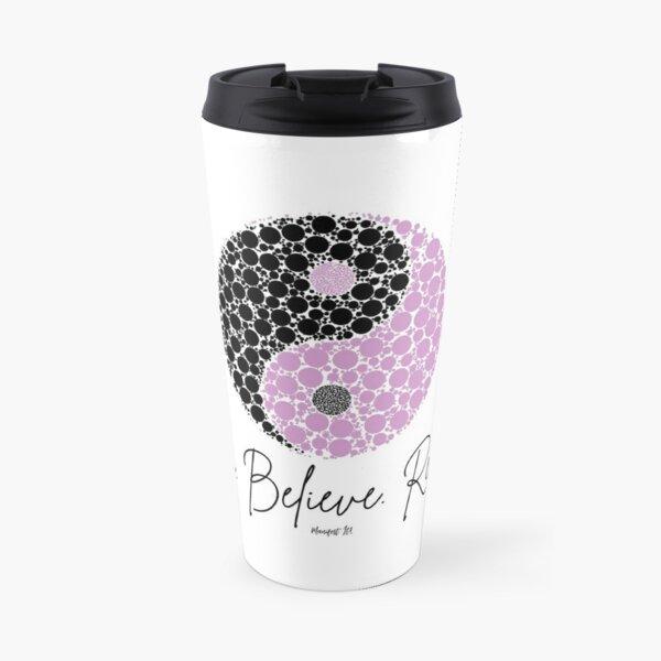 Manifest It! Purple Ying Yang Travel Mug