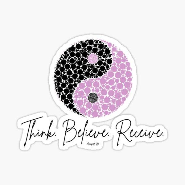 Manifest It! Purple Yin Yang Sticker