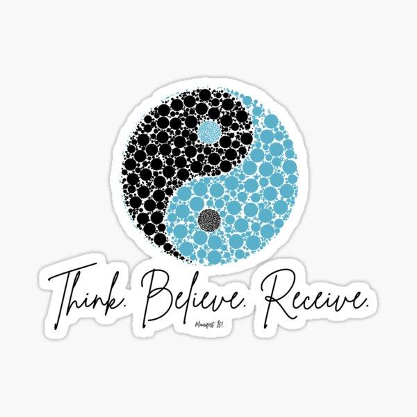 Manifest It! Blue Yin Yang Sticker