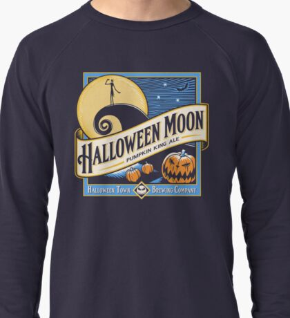 Halloween Moon Lightweight Sweatshirt