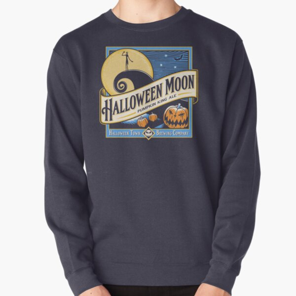Halloween Moon Pullover Sweatshirt