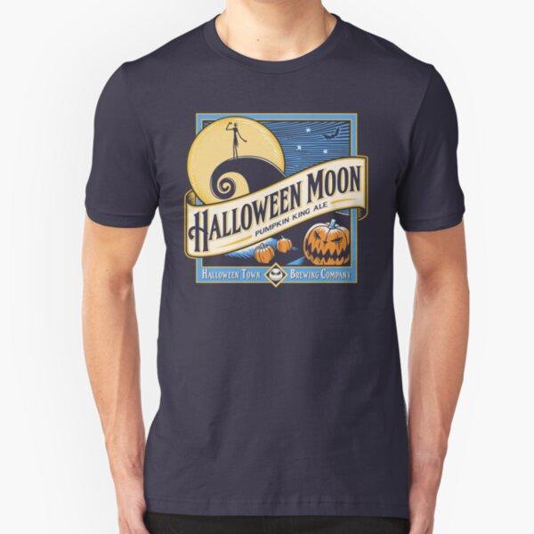 Halloween Moon Slim Fit T-Shirt