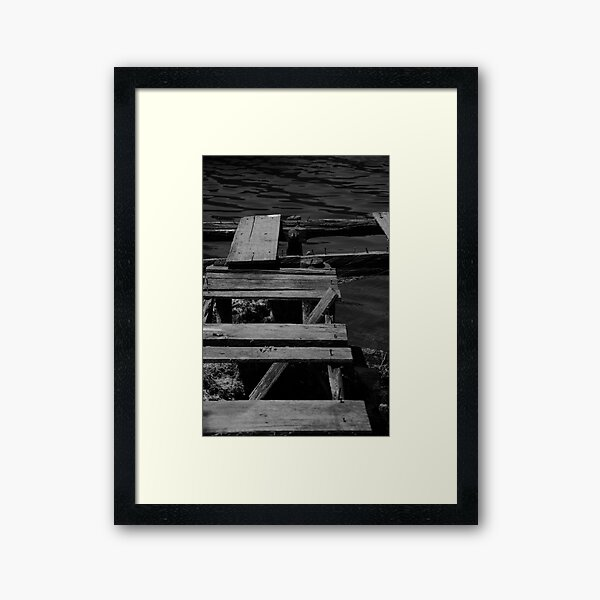 The Jetty in B&W Framed Art Print
