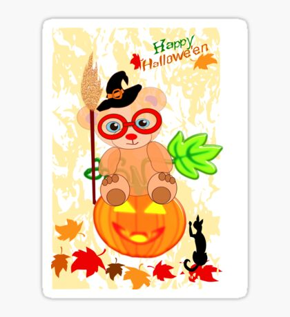 Halloween Teddy with glasses (4922 Views ) Sticker