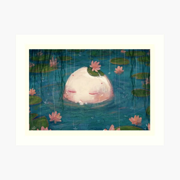 egg in the pond Art Print